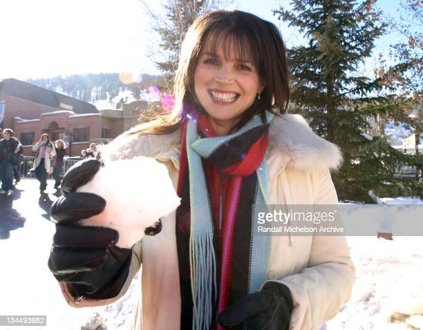 Julia Ormond during 2004 Sundance Film Festival Iron Jawed Angels Outdoor Portraits at Park City in Park City Utah United States