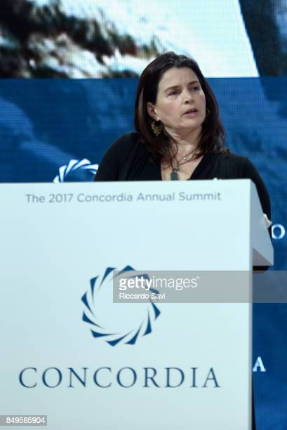Julia Ormond, Founder & President of ASSET speaks at The 2017 Concordia Annual Summit at Grand Hyatt New York on September 19, 2017 in New York City.