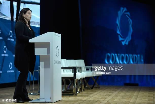 Julia Ormond Founder President of ASSET speaks at The 2017 Concordia Annual Summit at Grand Hyatt New York on September 19 2017 in New York City
