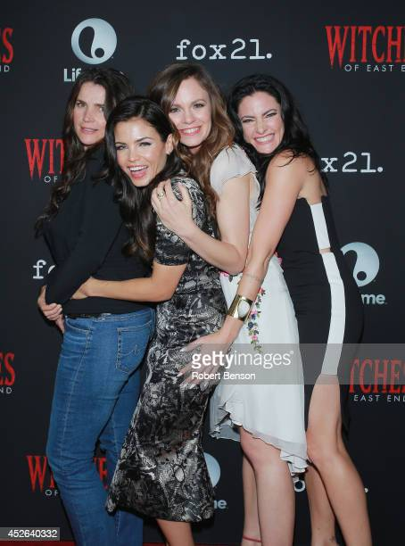 Julia Ormond , Jenna Dewan-Tatum, Rachel Boston and Madchen Amick attend 'Witches Of East End' Season 2 premiere during Comic-Con International 2014...