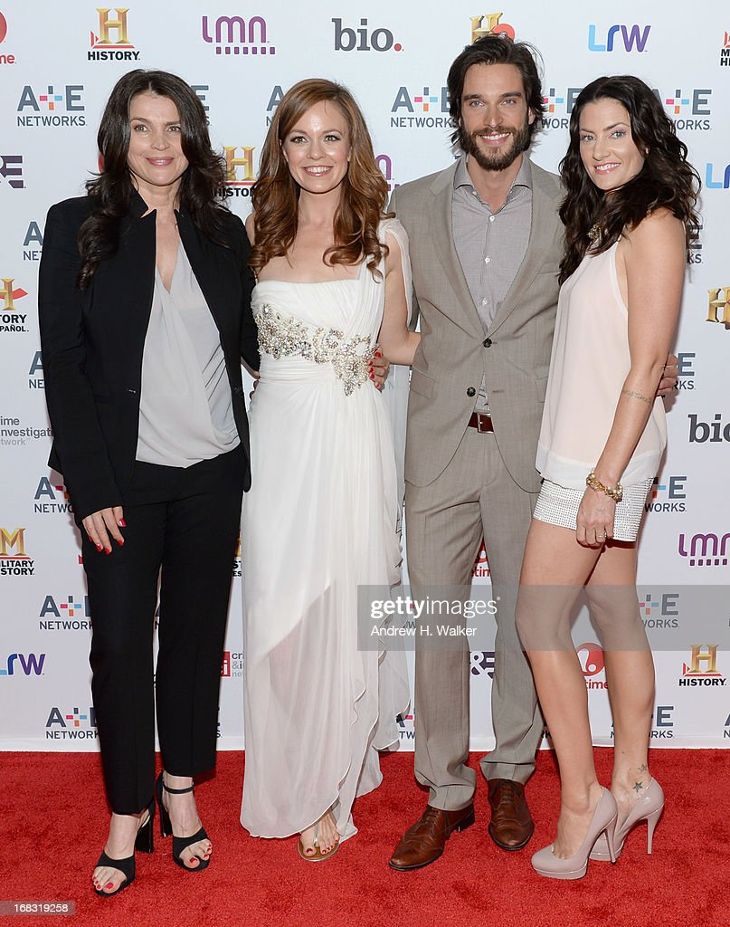 Julia Ormond, Rachel Boston, Daniel Ditomasso, and Madchen Amick of 'Witches of East End' attend the A+E Networks 2013 Upfront on May 8, 2013 in New York City.