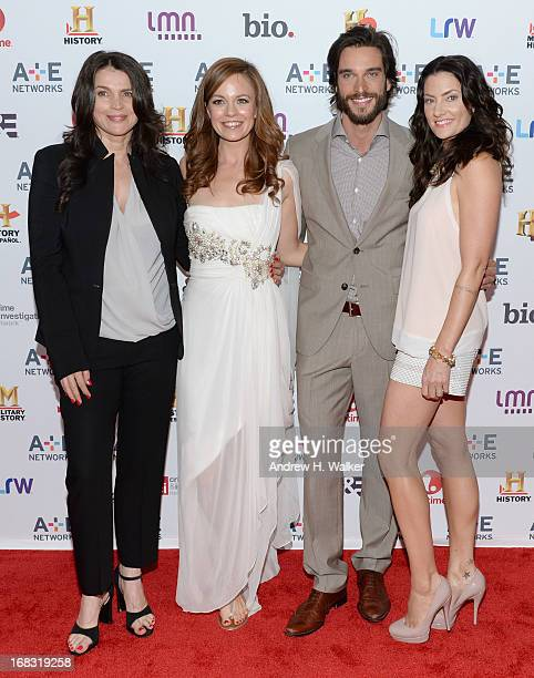 Julia Ormond Rachel Boston Daniel Ditomasso and Madchen Amick of Witches of East End attend the AE Networks 2013 Upfront on May 8 2013 in New York...