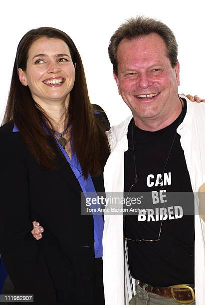 Julia Ormond & Terry Gilliam during 2001 Cannes Film Festival - Jury Photo Call at Palais des Festivals in Cannes, France.