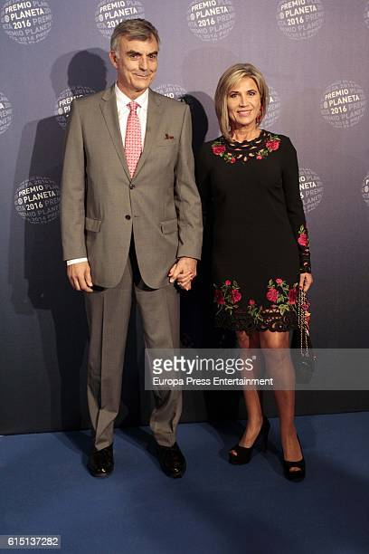 Julia Otero and Josep Martinez attend the 2016 Premio Planeta award on October 15 2016 in Barcelona Spain