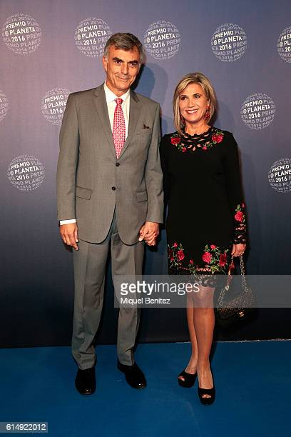 Julia Otero and Josep Martinez attend the '65th Premio Planeta' Literature Award the most valuable literature award in Spain with 601000 euros for...