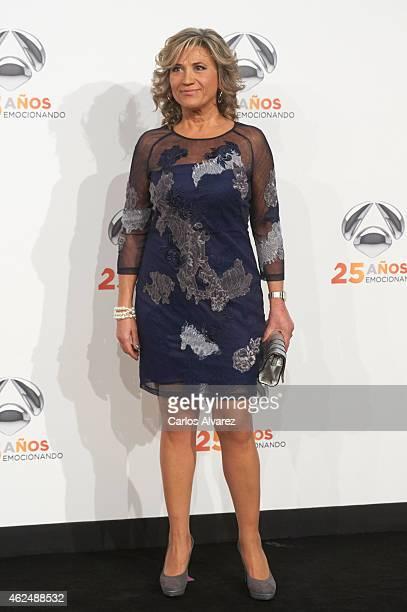 Julia Otero attends Antena 3 TV Channel 25th anniversary party at the Palacio de Cibeles on January 29 2015 in Madrid Spain