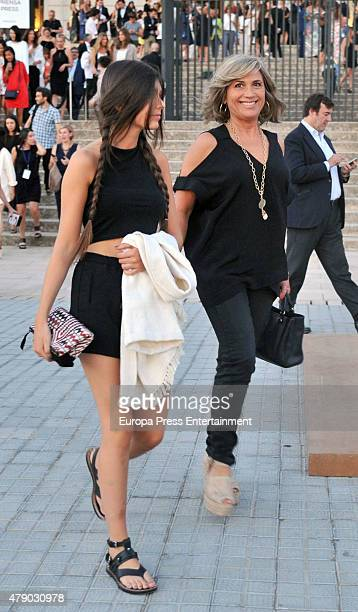 Julia Otero attends Mango fashion show at 'Barcelona 080 Fashion AutumnWinter 20152016' at the Olympic Stadium on June 29 2015 in Barcelona Spain