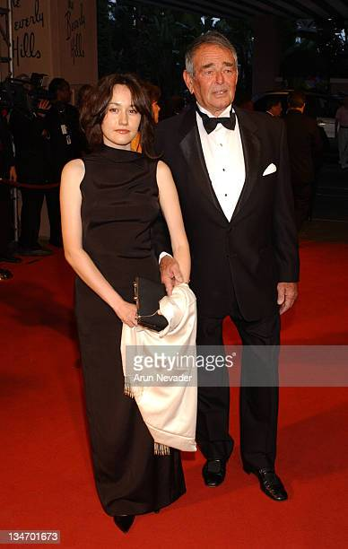 Julia Paradiz and Stuart Whitman during The 12th Annual Night of 100 Stars Gala at Beverly Hills Hotel in Beverly Hills California United States
