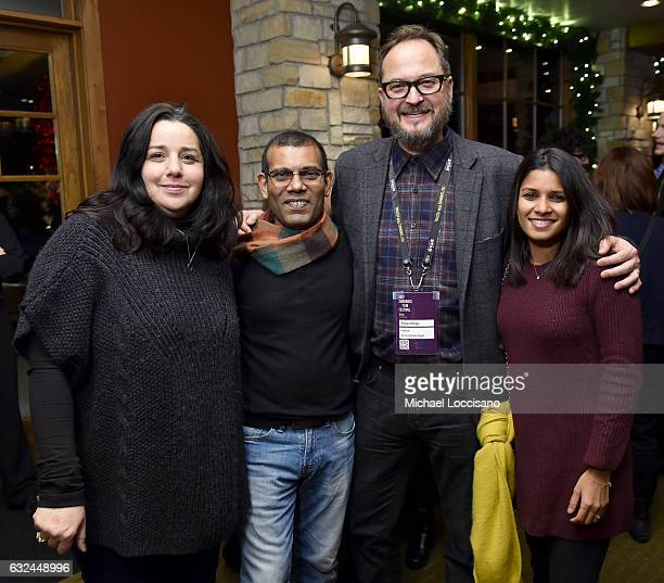 Julia Patecci Former President of the Maldives Mohamed Nasheed producer Richard Berge and Sabra Noordeen attend the HBO Documentary Films Party at...
