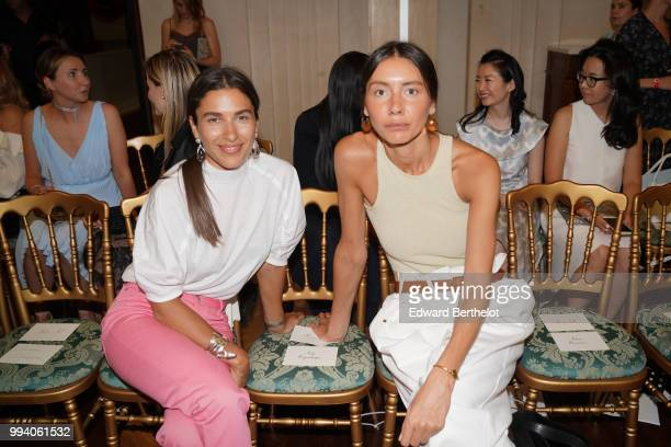 Julia Pelipas attends the Ulyana Sergeenko Haute Couture Fall Winter 2018/2019 show as part of Paris Fashion Week on July 3 2018 in Paris France