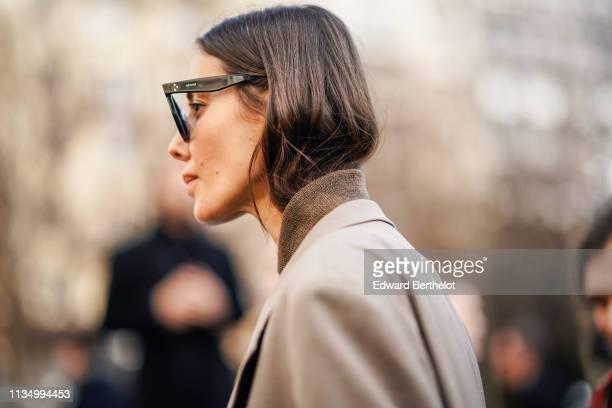 Julia Pelipas wears Celine sunglasses outside Chloe during Paris Fashion Week Womenswear Fall/Winter 2019/2020 on February 28 2019 in Paris France