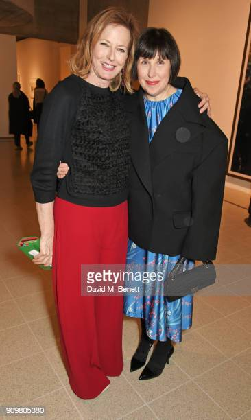Julia PeytonJones and Alice Rawsthorn attend the reopening of The Hayward Gallery featuring the first major UK retrospective of the work of German...