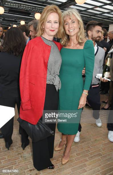 Julia PeytonJones and Alison Myners attend the launch of new book 'Climate Of Hope' by Michael Bloomberg and Carl Pope at The Ned on June 5 2017 in...