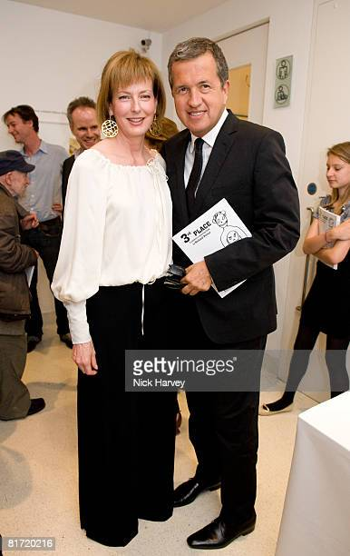 Julia PeytonJones and Mario Testino attend the Richard Prince 'Continuation' Private View at the Serpentine Gallery on June 25 2008 in London England