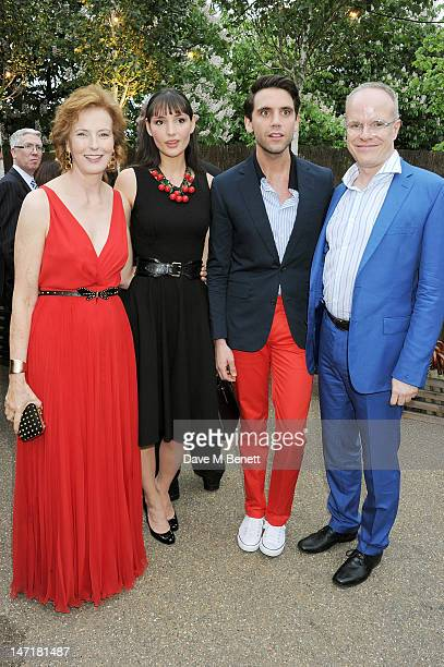 Julia Peyton-Jones, Paloma Penniman, Mika and Hans-Ulrich Obrist attend The Serpentine Gallery Summer Party sponsored by Leon Max at The Serpentine...