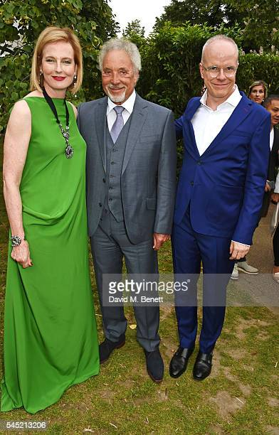 Julia PeytonJones Sir Tom Jones and HansUlrich Obrist attend The Serpentine Summer Party cohosted by Tommy Hilfiger on July 6 2016 in London England