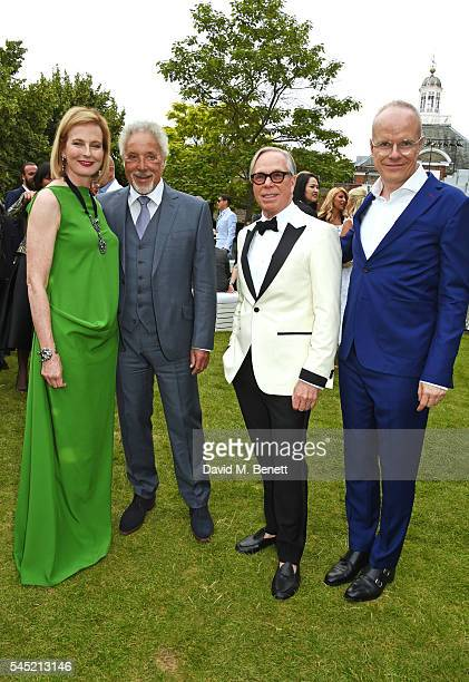 Julia PeytonJones Sir Tom Jones Tommy Hilfiger and HansUlrich Obrist attend The Serpentine Summer Party cohosted by Tommy Hilfiger on July 6 2016 in...