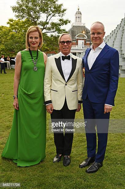 Julia PeytonJones Tommy Hilfiger and HansUlrich Obrist attend The Serpentine Summer Party cohosted by Tommy Hilfiger on July 6 2016 in London England