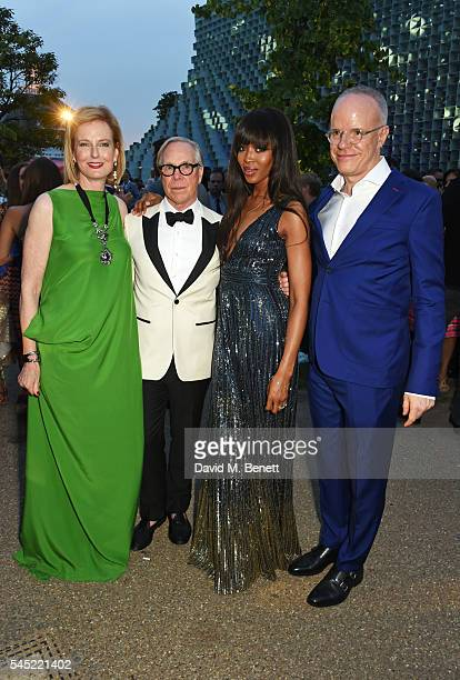 Julia PeytonJones Tommy Hilfiger Naomi Campbell and HansUlrich Obrist attend The Serpentine Summer Party cohosted by Tommy Hilfiger on July 6 2016 in...
