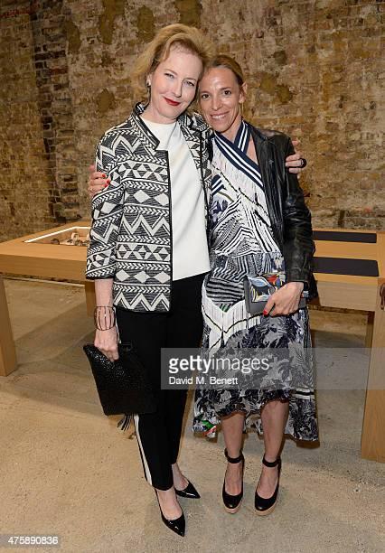 Julia Peyton-Jones,Tiphaine de Lussy attend the dinner for Dauphin jewellery hosted by Charlotte Dauphin de La Rochefoucauld at Dover Street Market...