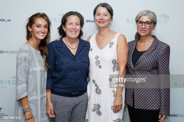 Julia Pittorino, Bea Hanson, Stephanie Oster and Stephanie Davies attend the Bluebird London New York City launch party at Bluebird London on...