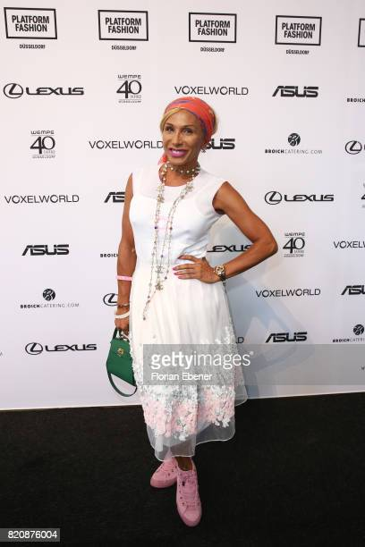 Julia Prillwitz attends the 3D Fashion Presented By Lexus/Voxelworld show during Platform Fashion July 2017 at Areal Boehler on July 22, 2017 in...