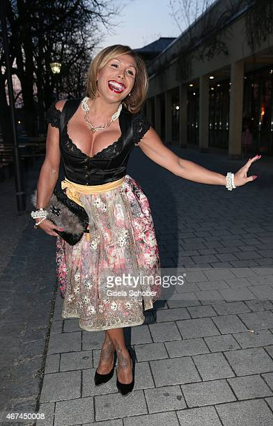 Julia Prillwitz during the SIXT fashion dinner at Nockherberg on March 24 2015 in Munich Germany