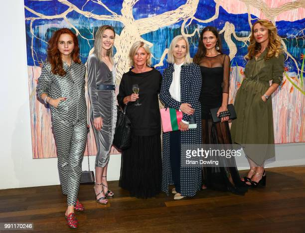 Julia Prudko Marianna Eliseeva Laurel designer Elisabeth Schwaiger Anna Burashova Polina Askeri and Jurate Gurauskaite attend the Laurel Collection...