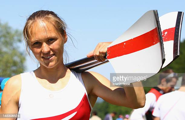Julia Rasmussen of Denmark poses for a photo during Day 2 of the 2012 Samsung World Rowing Cup III on Lucerne Rotsee on May 26 2012 in Lucerne...