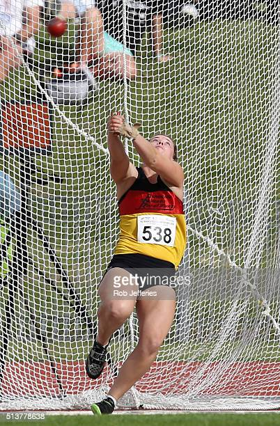 Julia Ratcliffe of Waikato BOP competes in the Hammer Throw during the 2016 National Track & Field Championships on March 5, 2016 in Dunedin, New...