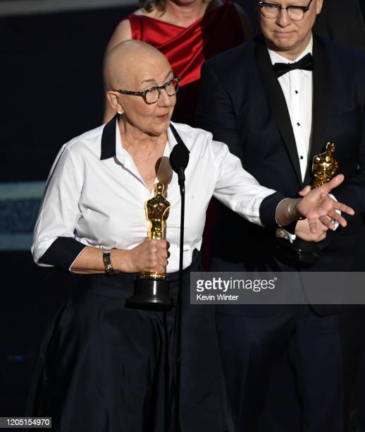 Julia Reichert accepts the Documentary Feature award for 'American Factory' onstage during the 92nd Annual Academy Awards at Dolby Theatre on...