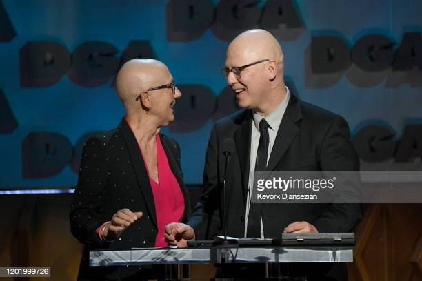 Julia Reichert and Steven Bognar accept Documentary for 'American Factory' onstage during the 72nd Annual Directors Guild Of America Awards at The...
