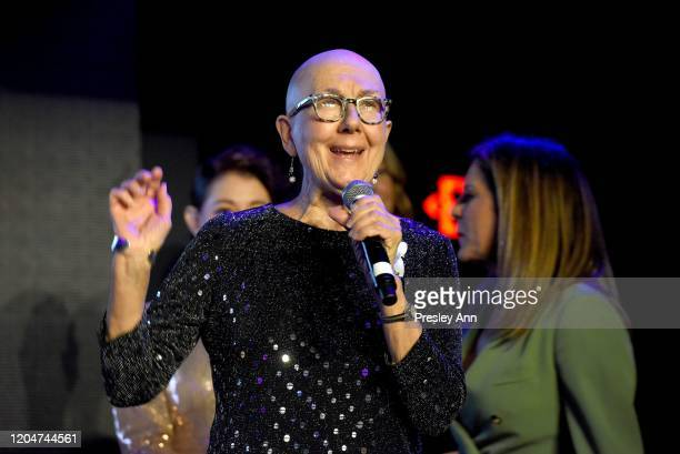 Julia Reichert speaks onstage during the 13th annual Women In Film Female Oscar Nominees Party presented by Max Mara, Stella Artois, Cadillac, and...