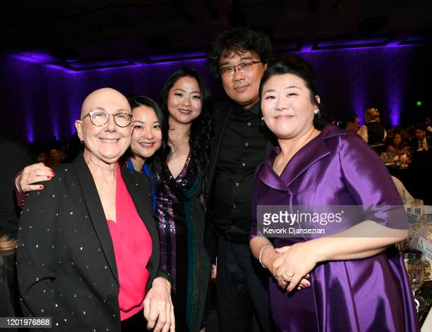 Julia Reichert Yiqian Zhang Rebecca RuanO'Shaughnessy Bong Joonho and Lee Jeongeun are seen during the 72nd Annual Directors Guild Of America Awards...