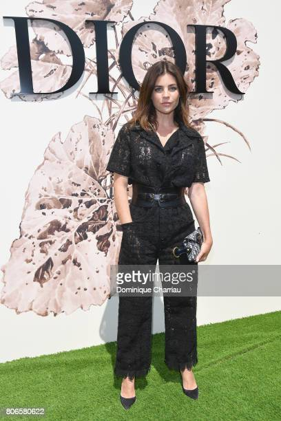 Julia Restoin attends the Christian Dior Haute Couture Fall/Winter 20172018 show as part of Haute Couture Paris Fashion Week on July 3 2017 in Paris...