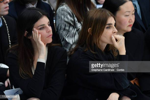 Julia Restoin Roitfeld and Carine Roitfeld attend the Chanel show as part of the Paris Fashion Week Womenswear Fall/Winter 2019/2020 on March 05 2019...