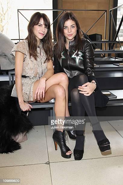 Julia Restoin Roitfeld and Caroline Sieber attend the Miu Miu Ready to Wear Autumn/Winter 2011/2012 show during Paris Fashion Week at Palais D'Iena>>...