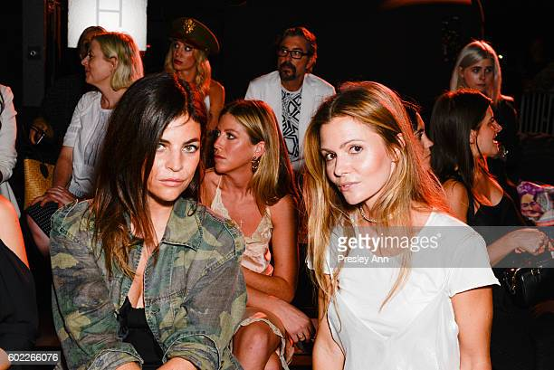 Julia Restoin Roitfeld and guest attend Alexander Wang Front Row during New York Fashion Week at Pier 94 on September 10 2016 in New York City