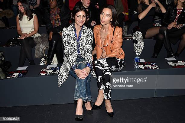 Julia Restoin Roitfeld and Ines Rau attend Desigual fashion show during Fall 2016 New York Fashion Week The Shows at The Arc Skylight at Moynihan...