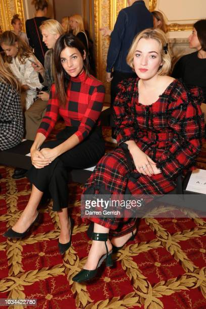 Julia Restoin Roitfeld and Julia CampbellGillies attend the Simone Rocha show during London Fashion Week September 2018 at Lancaster House on...