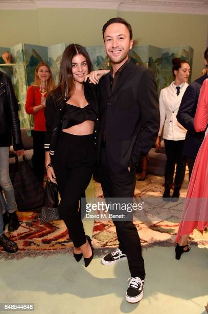 Julia Restoin Roitfeld and Tom Van Dorpe attend the Peter Pilotto Townhouse opening on September 17 2017 in London England