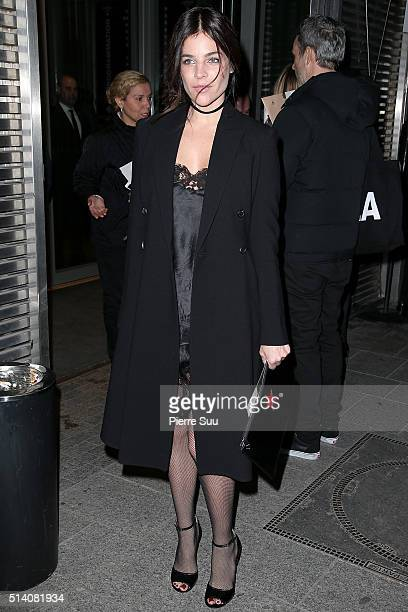 Julia Restoin Roitfeld arrives at the Givenchy show as part of the Paris Fashion Week Womenswear Fall/Winter 2016/2017 on March 6 2016 in Paris France