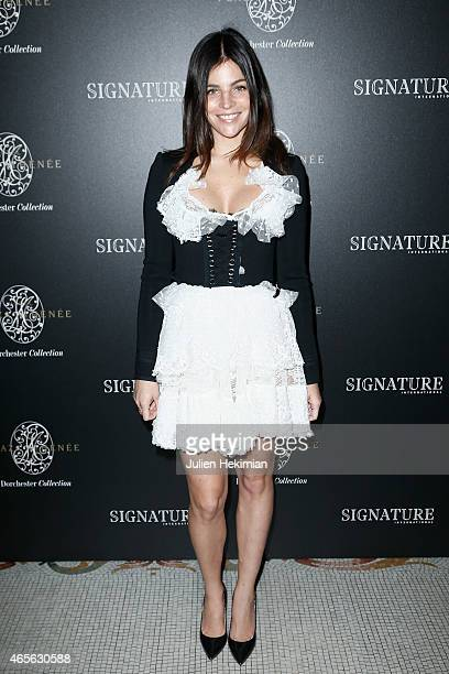 Julia Restoin Roitfeld attends 'Signature International'Launch Cocktail as part of the Paris Fashion Week Womenswear Fall/Winter 2015/2016 on March 8...