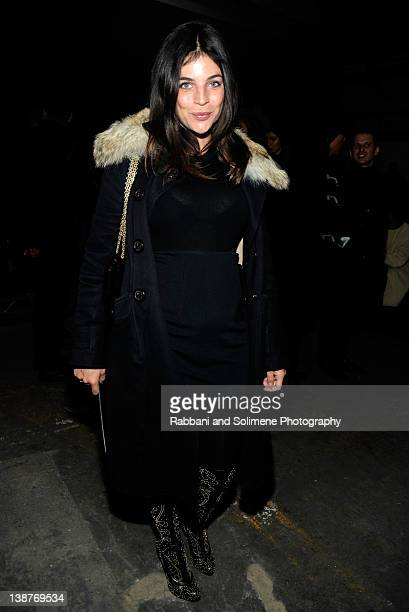Julia Restoin Roitfeld attends the Alexander Wang Fall 2012 fashion show during MercedesBenz Fashion Week at Pier 94 on February 11 2012 in New York...
