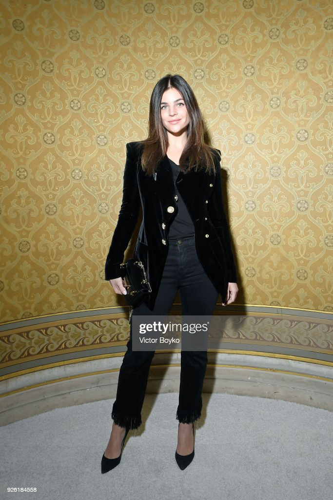 Balmain : Photocall - Paris Fashion Week Womenswear Fall/Winter 2018/2019
