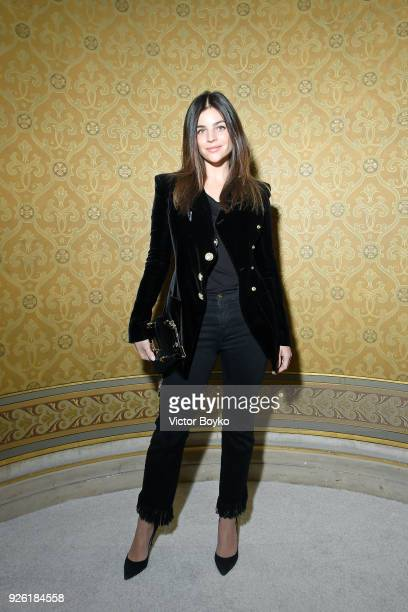 Julia Restoin Roitfeld attends the Balmain show as part of the Paris Fashion Week Womenswear Fall/Winter 2018/2019 on March 2 2018 in Paris France