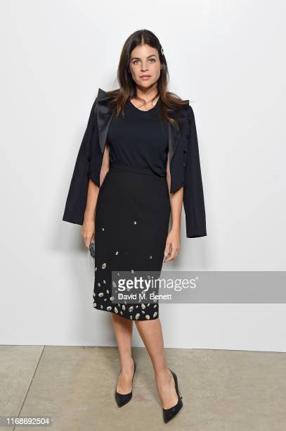 Julia Restoin Roitfeld attends the Burberry September 2019 show during London Fashion Week, on September 16, 2019 in London, England.