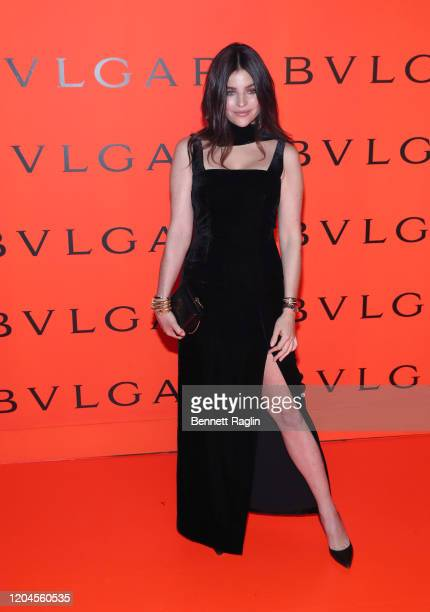 Julia Restoin Roitfeld attends the Bvlgari B.zero1 Rock collection event at Duggal Greenhouse on February 06, 2020 in Brooklyn, New York.