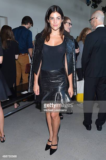 Julia Restoin Roitfeld attends the Calvin Klein Collection Spring 2016 fashion show during New York Fashion Week The Shows at Spring Studios on...