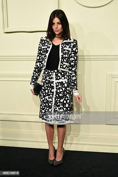 Julia Restoin Roitfeld attends the CHANEL ParisSalzburg 2014/15 Metiers d'Art Collection in New York City at the Park Avenue Armory on March 31 2015...